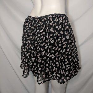 Dresses & Skirts - Lucie rose | Mini skirt | floral pattern | black S